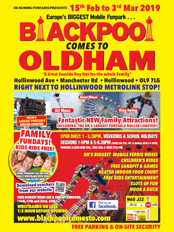 BlackpoolComes to Oldham 2019 poster